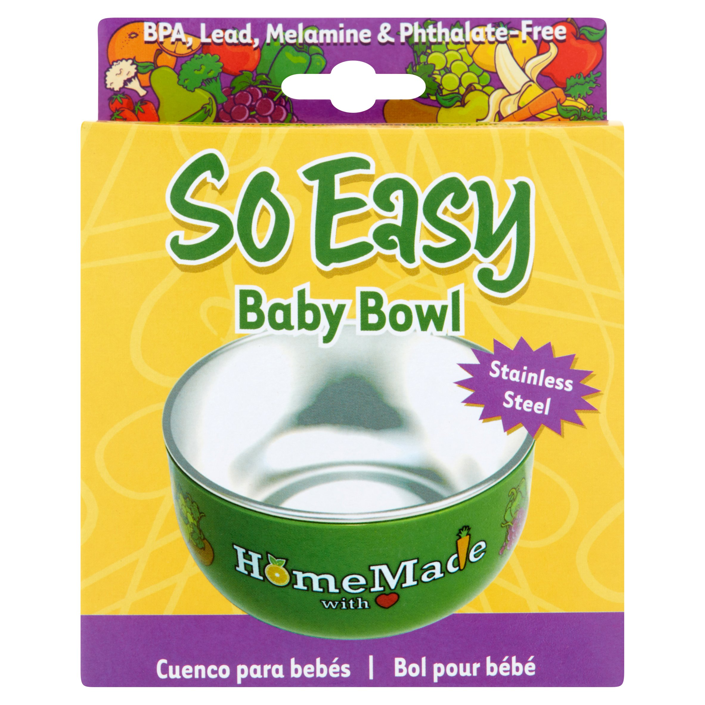 So Easy Stainless Steel Baby Bowl
