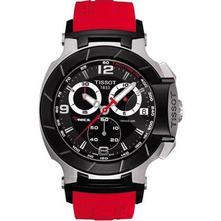 Black Rubber Watch - Tissot Men's T-Race T048.417.27.057.01 Black Rubber Swiss Quartz Fashion Watch