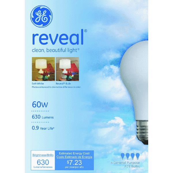 GE Reveal A19 Light Bulb