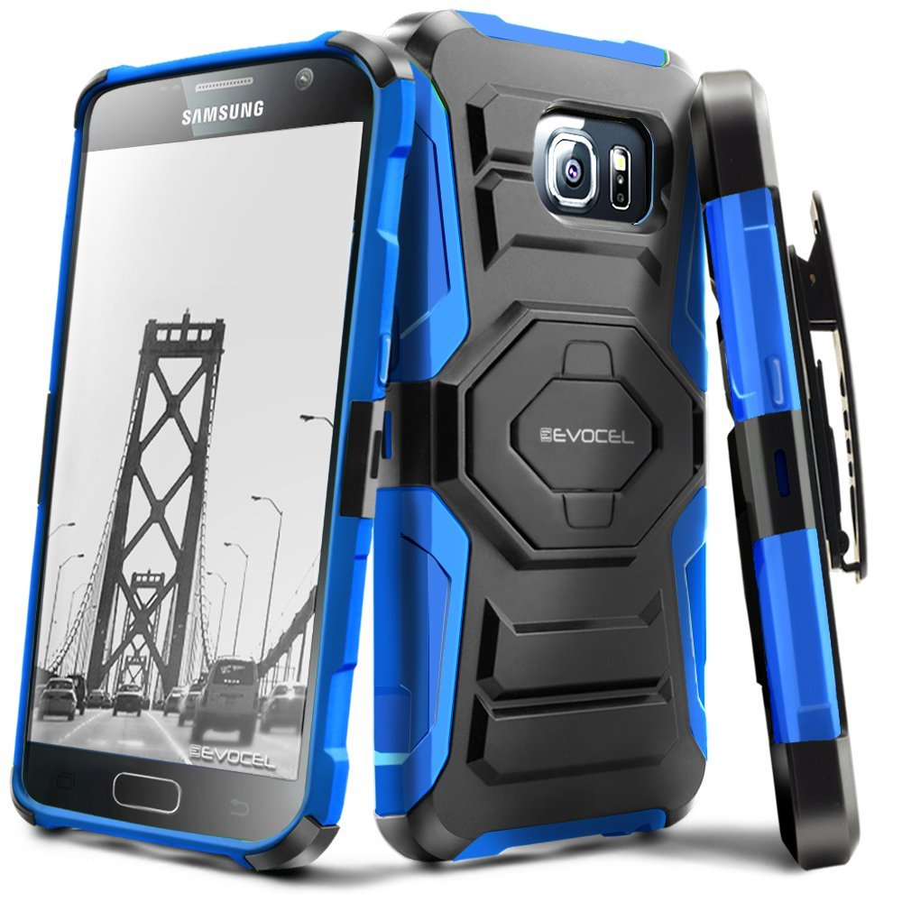 Galaxy S7 Case, Evocel [Belt Clip Holster] [Kickstand] [Dual Layer] New Generation Phone Case for Samsung Galaxy S7 (SM-G930), Black