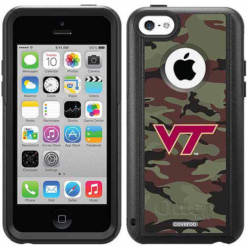 Virginia Tech Camo 1 Design on OtterBox Commuter Series Case for Apple iPhone 5c
