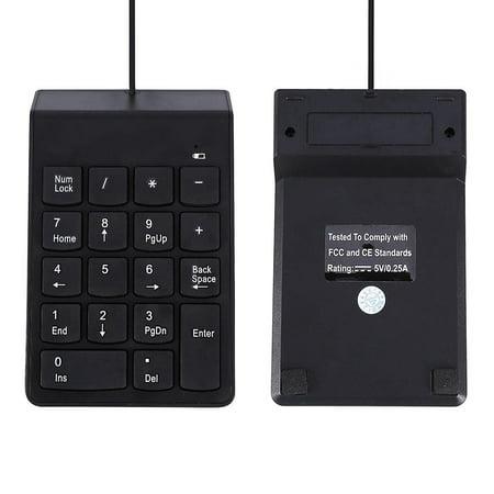 Zerone USB Numeric Keypad Mini Chocolate 18 Keys Universal Keyboard For Laptop Desktop PC Pro Windows System, Mini Number Pad, USB Numpad ()
