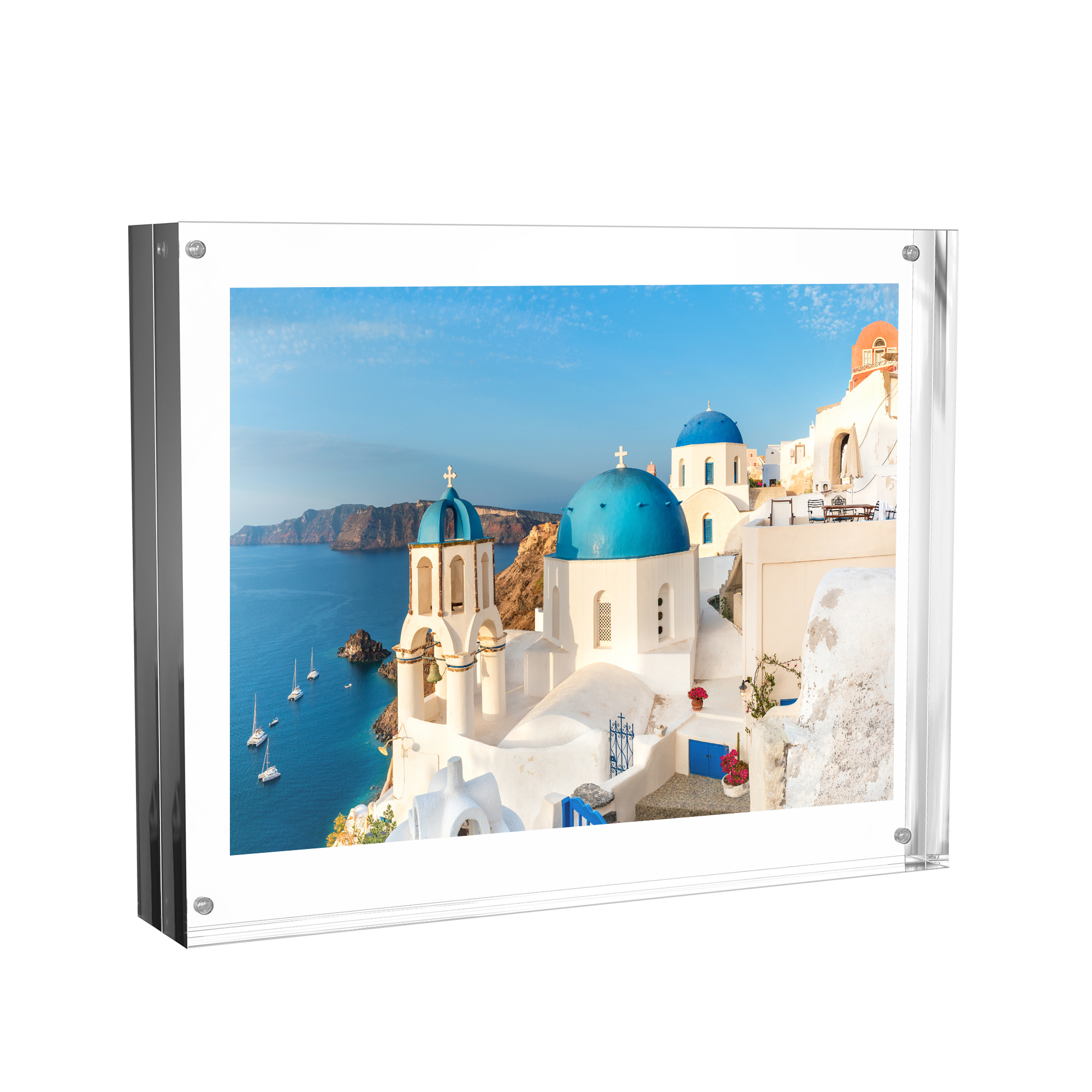 Acrylic Picture Frames 8x10 Freestanding Frame With Double Sided