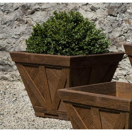 - Campania International Cast Stone Williamsburg Parterre Medium Planter Box