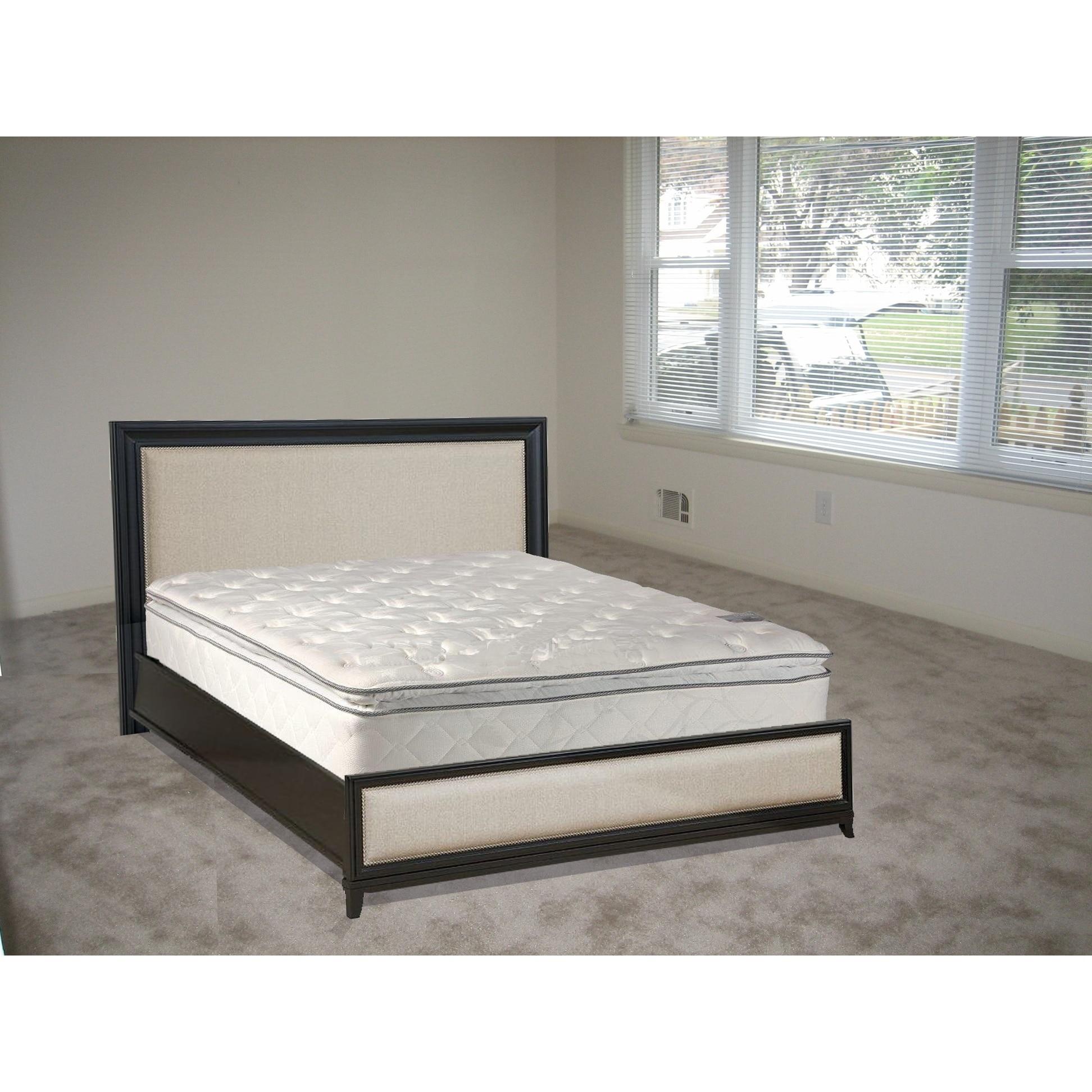 Continental Sleep , Medium Plush Pillowtop Doublesided Mattress, Full Size