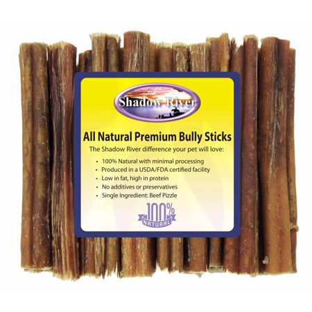 25 pack 6 inch thick all natural premium beef bully sticks by shadow river. Black Bedroom Furniture Sets. Home Design Ideas