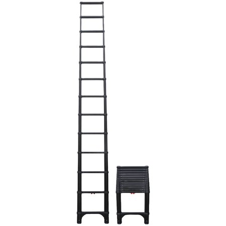 Telesteps 1600ET OSHA Compliant 16 ft Reach Black Tactical Telescoping Extension - Telesteps Ladder