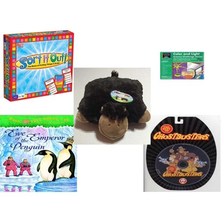 Children's Gift Bundle [5 Piece] -  Sort It Out!  - Learning Horizons Science Kit  - Pillow Pet Pee Wee Monkey 11