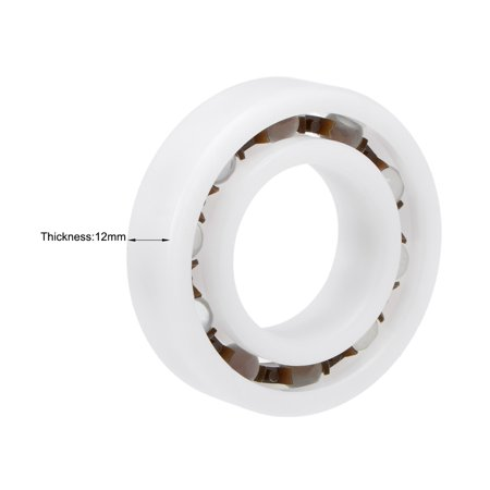 6005 POM Plastic Bearings 25x47x12mm Glass Ball Nylon Cage 2pcs - image 2 of 4
