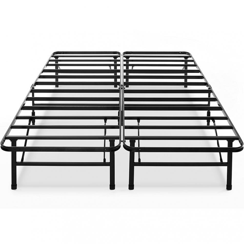Metal Platform Bed Frame Classic Steel Box Spring Replacement, King