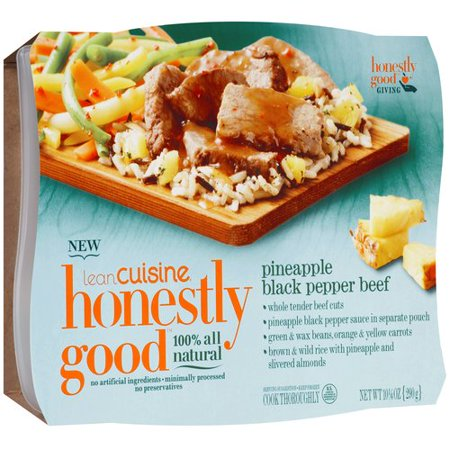 Lean cuisine honestly good pineapple black pepper beef 10 for Are lean cuisine good for you