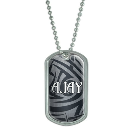Male Names - Ajay - Dog Tag