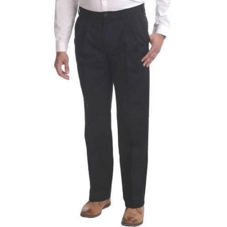 George Men`s Pleat Front Wrinkle Resistant Pant