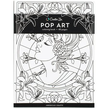 American Crafts 375320 Creative Zen Coloring Book - Pop Art