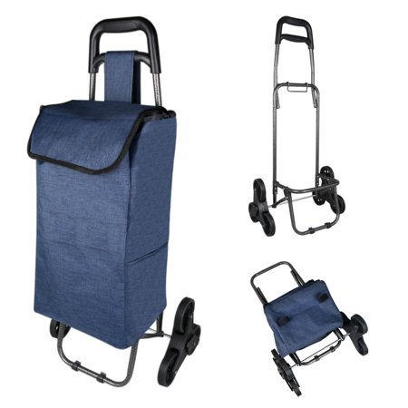 unique bargains folding shopping trolley stair climbing cart with bag. Black Bedroom Furniture Sets. Home Design Ideas