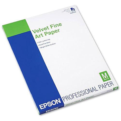 """Epson Velvet Fine Art Paper, 8.5"""" x 11"""""""
