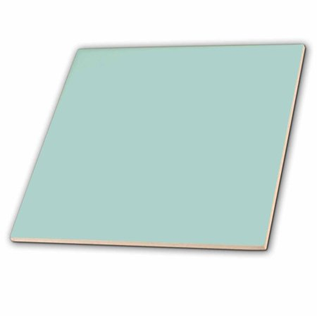 3dRose Plain mint blue - solid color - light turquoise-grey-gray - modern contemporary simple pastel teal - Ceramic Tile, 6-inch (Color Ceramic Tiles)