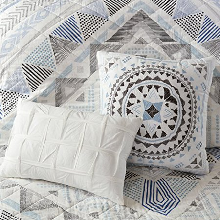 Rochelle 7 Piece Cotton Reversible Coverlet Set King/Cal King/Blue - image 3 of 4