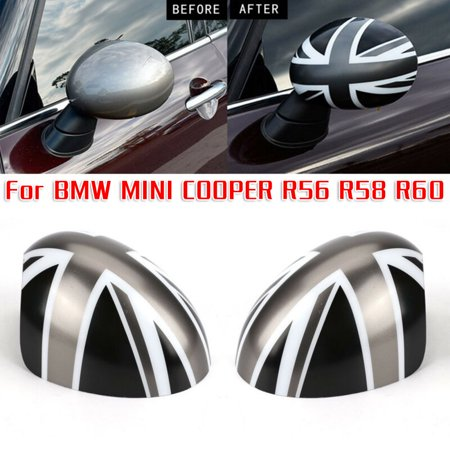 1Pair Manual Fold Wing Rearview Mirror Cap Cover For BMW MINI COOPER R56 R58 R60