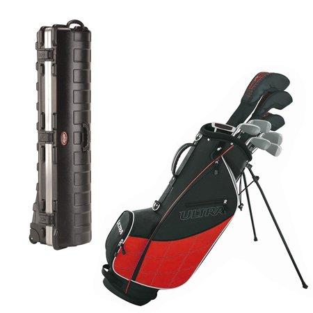 Wilson Ultra Men's 13 Piece Golf Club Set and SKB Cases Hard Plastic Travel