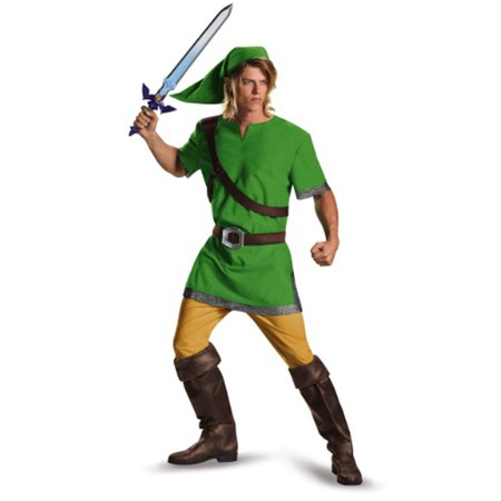 The Legend Of Zelda Adult Classic Link Costume - Zelda Halloween Costume Link