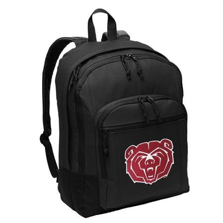 Missouri State University Backpack Classic Style Missouri State Bears Backpacks Travel   School Bags