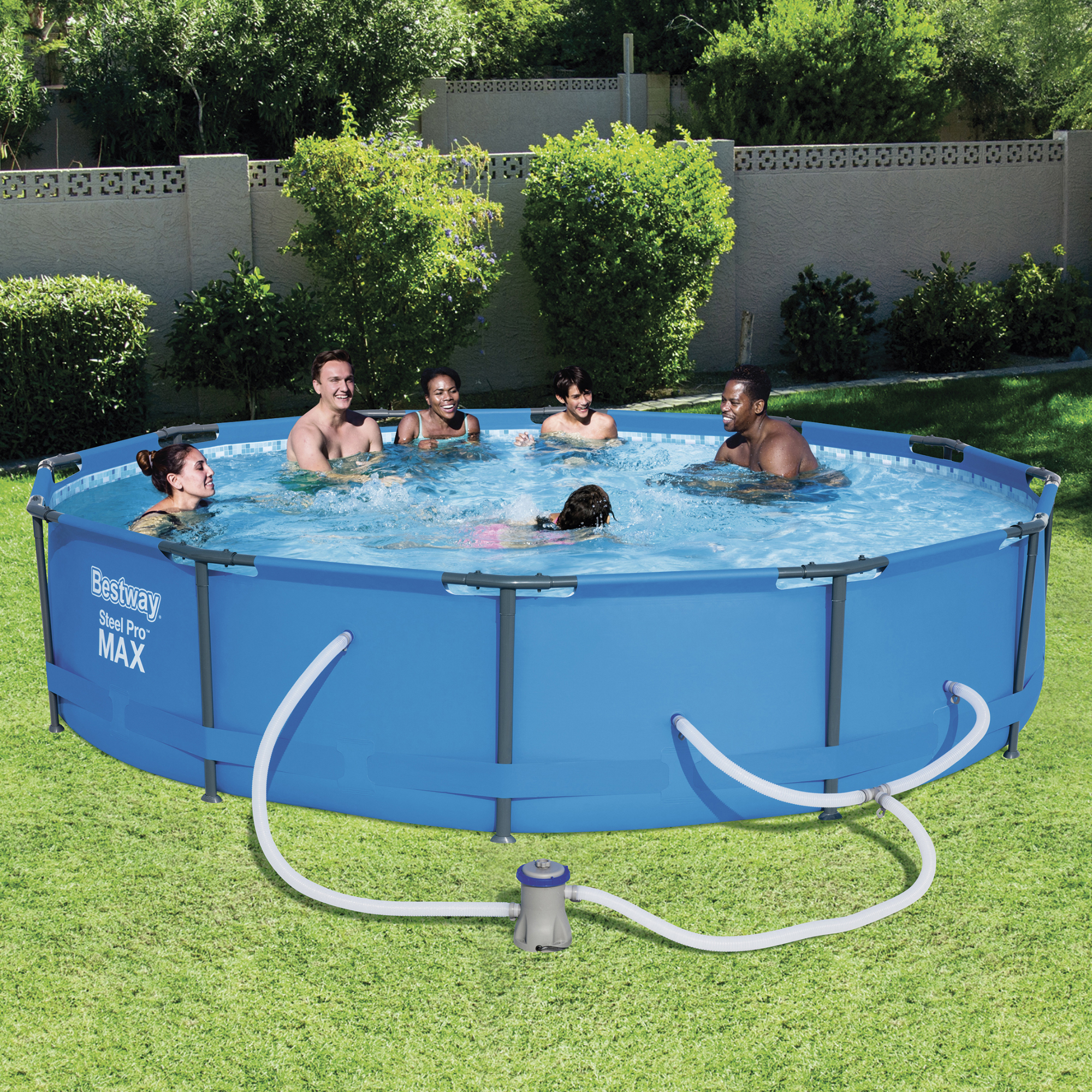 "Bestway Steel Pro MAX 12' x 30"" Frame Swimming Pool Set by Bestway"