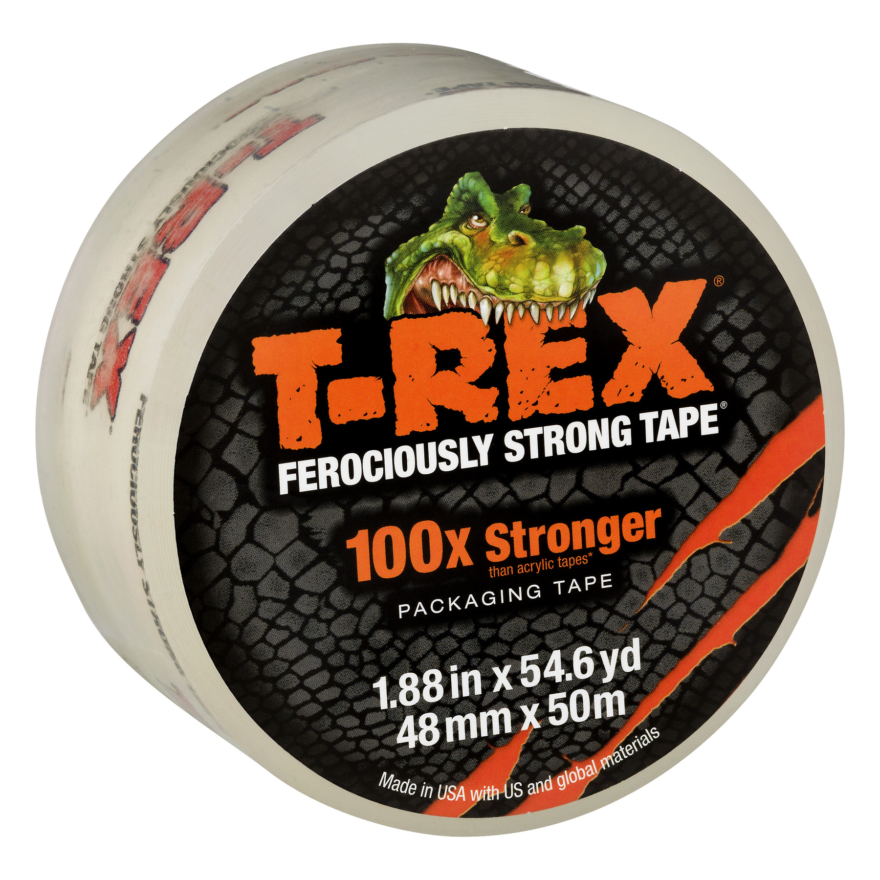 T-REX Strong Packaging Tape, 1.88 in. x 54.6 yd., Clear, 1-Count