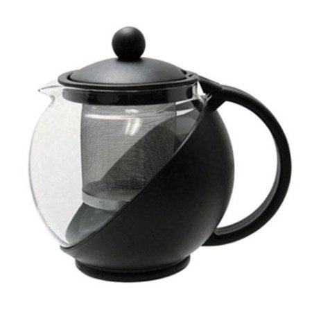 Black Glass Tea Pots - Update International (TPI-75) 0.75 Qt. Tea Pot w/ Infuser
