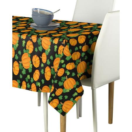 Pumpkin Patch Black Tablecloth - Halloween Pumpkin Patch