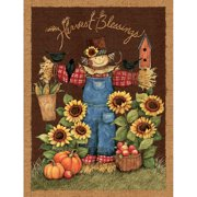 "Harvest Blessings, Brown, 43/44"" Wide, Fabric by the Yard"