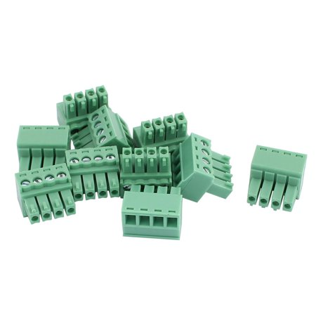 10Pcs 300V KF2EDGK 3 5mm Pitch 4-Pin PCB Screw Terminal Block Connector
