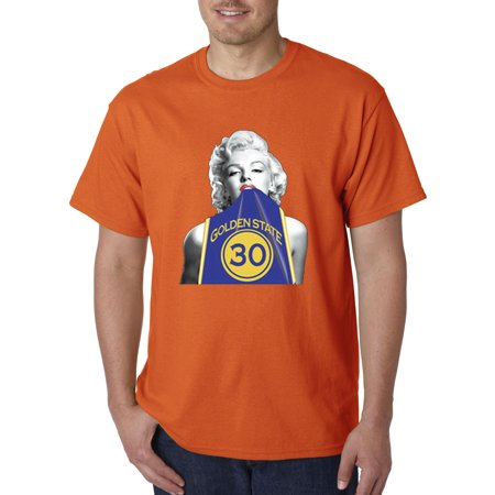 503 - Unisex T-Shirt Marilyn Monroe Stephen Curry Basketball Series 1 Orange Replica Basketball Jersey