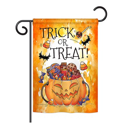 Halloween Usa Flag (Breeze Decor - Trick or Treat Candys Fall - Seasonal Halloween Impressions Decorative Vertical Garden Flag 13