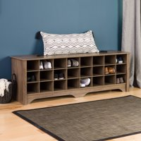 Prepac Entryway Shoe Storage Cubby Bench, Multiple Colors
