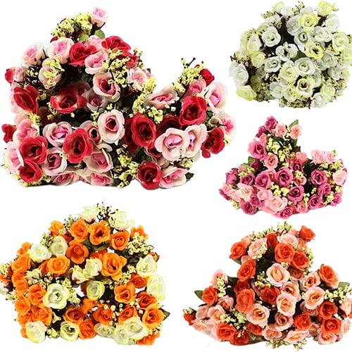 Moderna 1 Bouquet Artificial Rose Babysbreath Silk Fake Flower Leaf Home Wedding Decor
