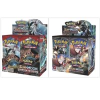 Pokemon Trading Card Game Crimson Invasion Booster Box and Sun & Moon Burning Shadows Booster Box Bundle, 1 of Each