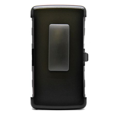 Insten Hard Dual Layer Plastic Silicone Stand Case with Holster For LG G Flex 2 - Black - image 1 de 3