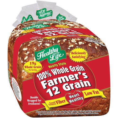 Healthy Life 100% Whole Grain Farmer's 12 Grain Bread, 20 oz