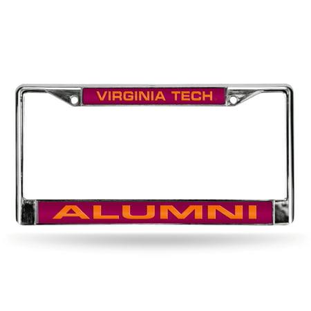 Virginia Tech Hokies Metal - Virginia Tech Hokies NCAA Alumni Chrome Metal Laser Cut License Plate Frame