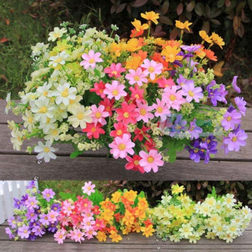 Moderna 1 Bouquet 28 Heads Artificial Fake Cute Daisy Flower Home Wedding Garden Decor