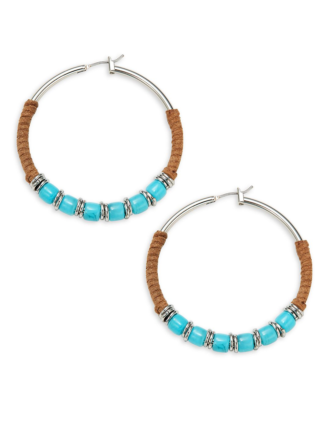 Wrap-Bead Hoop Earrings