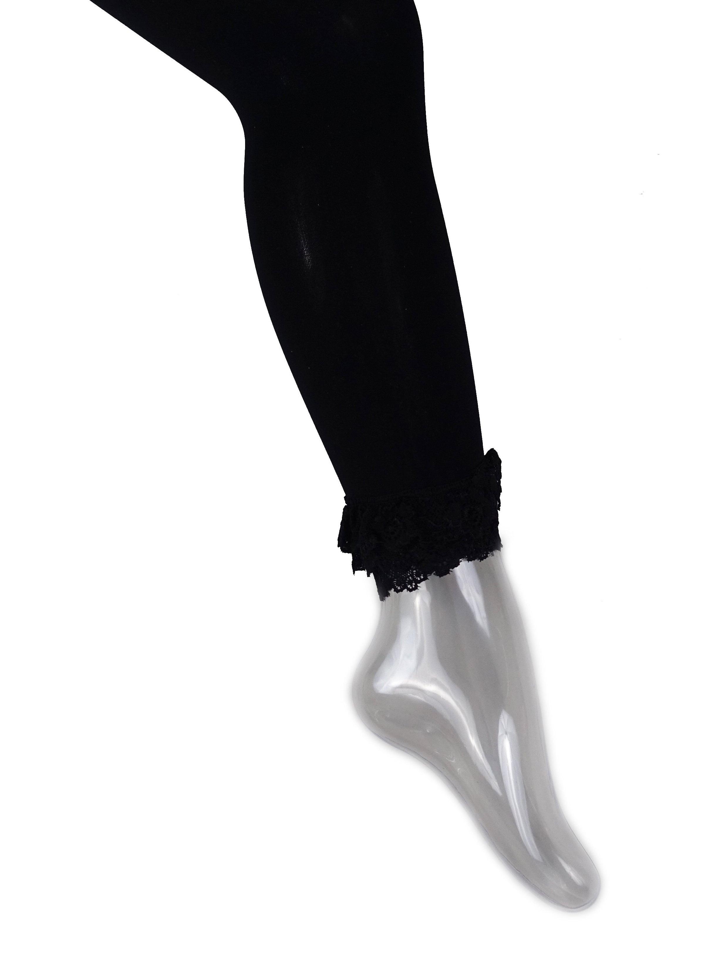 Wenchoice Black Lace Ruffle Trim TightGirls M(3Y-4Y)