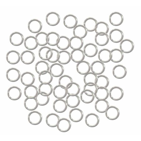 400 Jump Rings Silver-plated Brass 6mm Round 18 Gauge 4mm