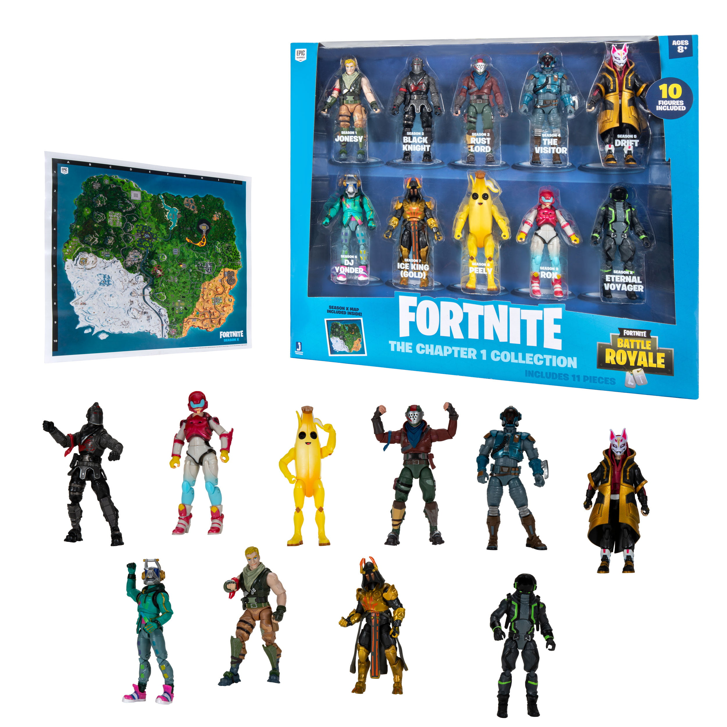 Fortnite The Chapter 1 Collection, 10 Figure Pack