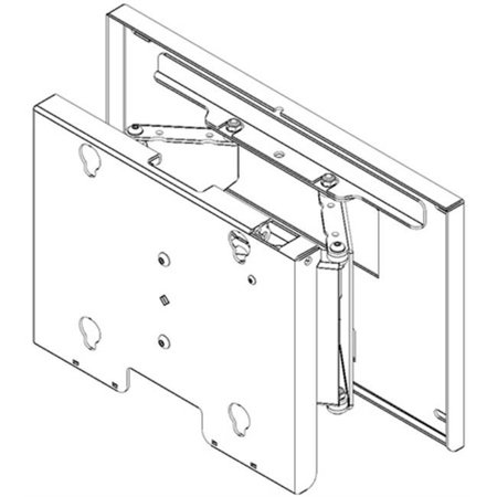 Chief Mounts CHF-MPTVB Flat Panel Swing Arm Wall Display Mount with 9 in. Extension Swing Arm Extension Flat Panel