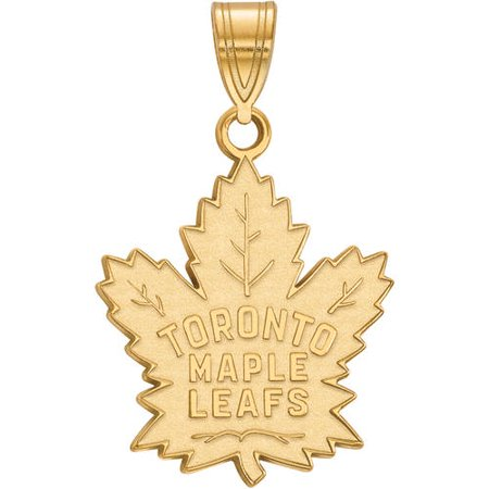 LogoArt NHL Toronto Maple Leafs 14kt Gold-Plated Sterling Silver Large Pendant Toronto Maple Leaf Tickets