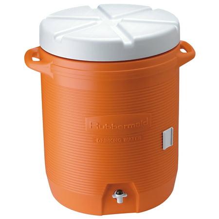 Rubbermaid FG16100111 10 Gallon Orange Water