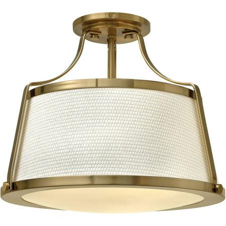 Semi Flush 3 Light Fixtures With Brushed Caramel Finish Steel Material Medium Bulb 16
