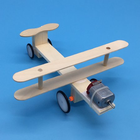 Wood Electric Aircraft Electric Glider DIY Kit Kids Toy Airplane DIY Kit Electric Wooden Airplane Model for Children Flying Model Assembled Experiment DIY Model Building Kits](Wood Building Kits)